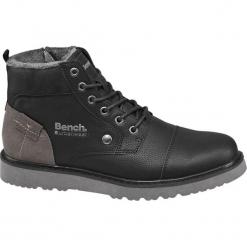 Kozaki męskie Bench czarne. Czarne buty zimowe męskie Bench, z gumy, na zamek. Za 199,90 zł.