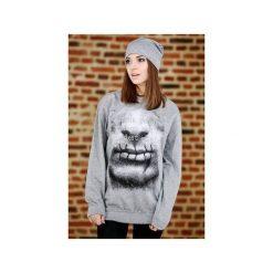 Bluza UNDERWORLD casual Usta. Szare bluzy męskie rozpinane marki Underworld, m, z nadrukiem, z bawełny. Za 119,99 zł.