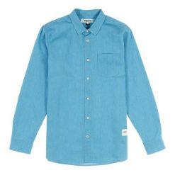 Koszule męskie na spinki: Wemoto Koszula męska Dillinger Light Denim niebieska r. S (322-3)