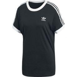 Adidas 3 Stripes Tee Koszulka damska czarny/biały. Czarne bluzki z odkrytymi ramionami marki Adidas, do piłki nożnej. Za 121,90 zł.