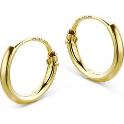 Złote kolczyki-kreole. Żółte kolczyki damskie REVONI, złote. W wyprzedaży za 172,95 zł.