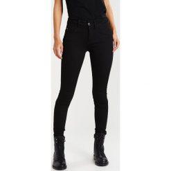 GStar LYNN MID SUPER SKINNY  Jeans Skinny Fit yield black ultimate stretch denim. Czarne jeansy damskie relaxed fit marki G-Star, z bawełny. Za 469,00 zł.