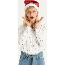Wzorzysta koszula - Turkusowy. Czerwone koszule damskie marki Sinsay, l, z nadrukiem. Za 39,99 zł.