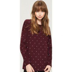 Dzianinowy sweter - Fioletowy. Fioletowe swetry klasyczne damskie Sinsay, l, z dzianiny. Za 49,99 zł.