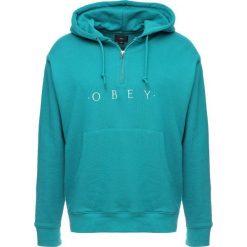 Bejsbolówki męskie: Obey Clothing DIV HOOD Bluza z kapturem teal