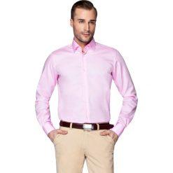 Koszula Różowa Klaus. Czerwone koszule męskie na spinki LANCERTO, m, z bawełny. Za 299,90 zł.