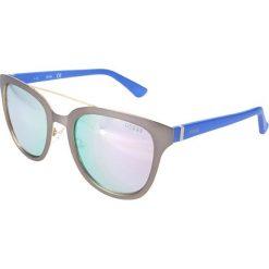 """Okulary przeciwsłoneczne damskie: Okulary przeciwsłoneczne """"GU7448"""" w kolorze niebiesko-srebrnym"""