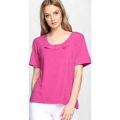 Bluzki damskie: Fuksjowy T-shirt Subtype