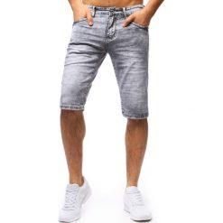 Spodenki i szorty męskie: Spodenki męskie jeansowe szare (sx0668)