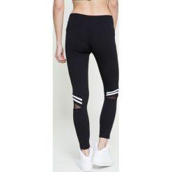 Guess Jeans - Legginsy. Szare jegginsy damskie marki Guess Jeans, m, z aplikacjami, z elastanu. W wyprzedaży za 259,90 zł.