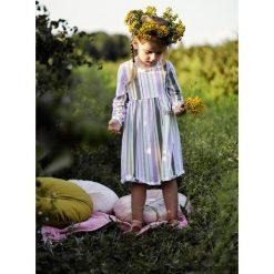 Sukienka Belts mustard-pink. Różowe sukienki dziewczęce dzianinowe Pakamera, z długim rękawem, długie. Za 107,00 zł.