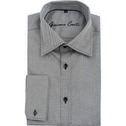 Koszula JUSEPPE 15-11-14-K. Czarne koszule męskie na spinki marki Premium by Jack&Jones, l, z bawełny, z włoskim kołnierzykiem, z długim rękawem. Za 259,00 zł.
