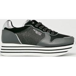 Trussardi Jeans - Buty. Szare buty sportowe damskie marki Trussardi Jeans, z jeansu. W wyprzedaży za 439,90 zł.