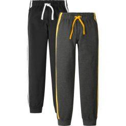 Spodnie dresowe (2 pary) bonprix czarno-antracytowy melanż. Czarne dresy chłopięce bonprix, melanż, z dresówki. Za 75,98 zł.
