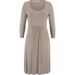 Sukienki: Sukienka shirtowa z rękawami 3/4 bonprix brunatny