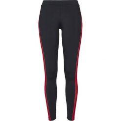 Spodnie damskie: Urban Classics Ladies Side Stripe Leggings Legginsy czarny/zielony/czerwony