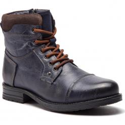 Kozaki LANQIER - 43A802 Granatowy. Niebieskie buty zimowe męskie Lanqier, z materiału. W wyprzedaży za 229,00 zł.