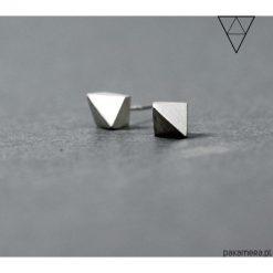 Kolczyki damskie: Srebrne minimalistyczne kolczyki DIAMOND VI