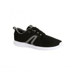 Buty damskie do szybkiego marszu Soft 140 z czarnej siateczki. Czarne buty do fitnessu damskie marki Adidas, z kauczuku. Za 69,99 zł.
