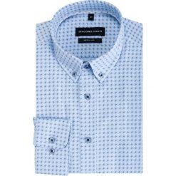 Koszula SIMONE KDWR000372. Czarne koszule męskie na spinki marki TOM TAILOR DENIM, l, z bawełny, button down, z długim rękawem. Za 169,00 zł.