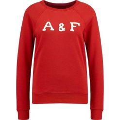 Bluzy rozpinane damskie: Abercrombie & Fitch LOGO CREW Bluza red
