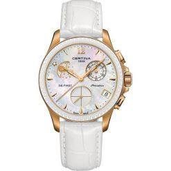 PROMOCJA ZEGAREK CERTINA DS First Lady Chrono Moon Phase C030.250.3. Białe zegarki damskie CERTINA, ceramiczne. W wyprzedaży za 2983,20 zł.