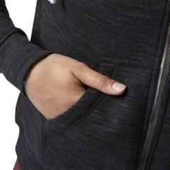 BLUZA REEBOK ELEMENTS MARBLE FULL ZIP BQ5904. Szare bluzy damskie marki Reebok, l, z dzianiny, casualowe, z okrągłym kołnierzem. Za 179,00 zł.