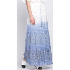 Biało-Niebieska Spódnica Me Me Me. Białe długie spódnice Born2be, na lato, l, oversize. Za 29,99 zł.