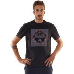 T-SHIRT SIROR PRINT BLACK. Szare t-shirty męskie marki Napapijri, l, z materiału, z kapturem. Za 112,49 zł.