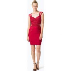 Lipsy - Damska sukienka wieczorowa, czerwony. Czerwone sukienki hiszpanki Lipsy, w koronkowe wzory, z koronki, wizytowe, bodycon. Za 499,95 zł.
