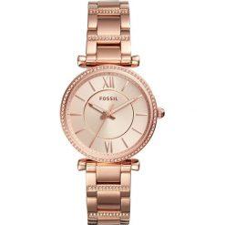 Zegarek FOSSIL - Carlie ES4301  Rose Gold/Rose Gold. Różowe zegarki damskie marki Fossil, szklane. Za 569,00 zł.