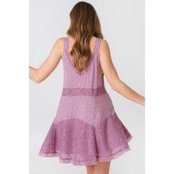 Sukienki: Free People Bieliźniana sukienka Anty Party – Pink