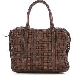 Torebki klasyczne damskie: Skórzana torebka w kolorze brązowym – 33 x 27 x 13 cm