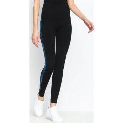 Spodnie damskie: Niebieskie Legginsy Gold Gym