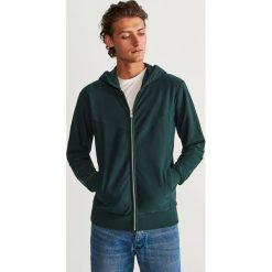 Bluza z kapturem - Khaki. Brązowe bluzy męskie rozpinane marki LIGNE VERNEY CARRON, m, z bawełny. Za 99,99 zł.