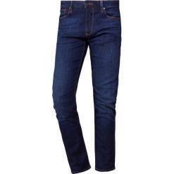 Emporio Armani Jeansy Slim Fit denim blu. Szare jeansy męskie relaxed fit marki Emporio Armani, l, z bawełny, z kapturem. Za 639,00 zł.