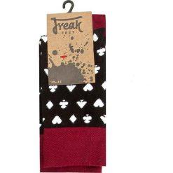 Skarpety Wysokie Unisex FREAK FEET - LKAR-BLW Czarny. Czerwone skarpetki męskie marki Happy Socks, z bawełny. Za 19,90 zł.