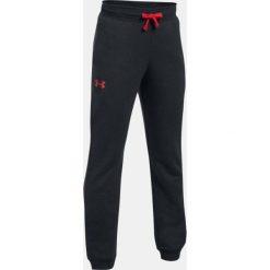 Chinosy chłopięce: Under Armour Spodnie dziecięce Rival Jogger czarno czerwone r. M (1309544-001)