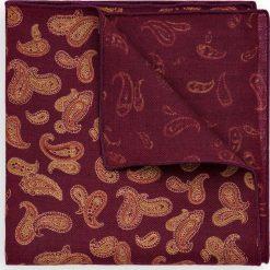 Poszetka Bordowa Paisley. Czerwone poszetki męskie LANCERTO, paisley, z wełny, klasyczne. Za 99,90 zł.
