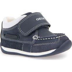 """Sneakersy """"Each"""" w kolorze granatowym. Niebieskie trampki chłopięce marki geox kids, z gumy. W wyprzedaży za 132,95 zł."""