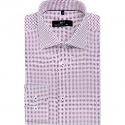 Koszula SIMONE KDBS000063. Szare koszule męskie na spinki marki S.Oliver, l, z bawełny, z włoskim kołnierzykiem, z długim rękawem. Za 229,00 zł.