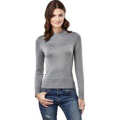 Sweter w kolorze szarym. Szare swetry klasyczne damskie marki Vincenzo Boretti, xs, z dzianiny, ze stójką. W wyprzedaży za 152,95 zł.