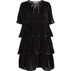 Sukienki hiszpanki: Prosta krótka gładka sukienka, krótki rękaw