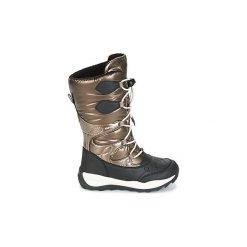 Śniegowce Dziecko Geox  J ORIZONT B G.ABX C. Żółte buty zimowe chłopięce marki Geox. Za 351,20 zł.