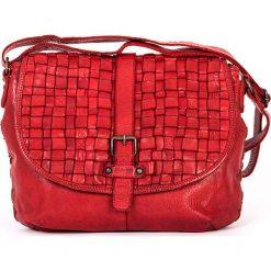 Torebki klasyczne damskie: Skórzana torebka w kolorze czerwonym – 30 x 24 x 10 cm