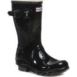Kalosze HUNTER - Original Gloss Short WFS1000RGL Black. Czarne buty zimowe damskie Hunter, z kauczuku. Za 499,00 zł.