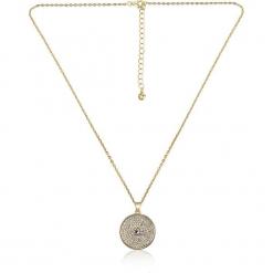 """Pozłacany naszyjnik """"Amarillo"""" z kryształkami Swarovski - dł. 42 cm. Żółte naszyjniki damskie marki METROPOLITAN, pozłacane. W wyprzedaży za 65,95 zł."""