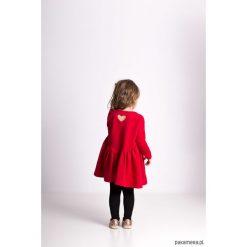 Sukienki dziewczęce dzianinowe: Marszczona sukienka czerwona