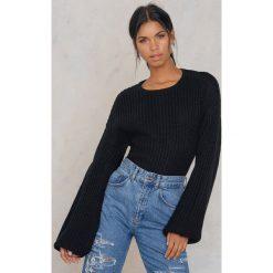 Swetry klasyczne damskie: Rut&Circle Sweter z bufiastym rękawem Lova – Black