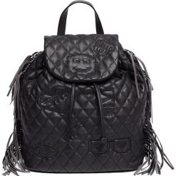 Plecaki damskie: Plecak w kolorze czarnym - (S)28 x (W)35 x (G)16 cm